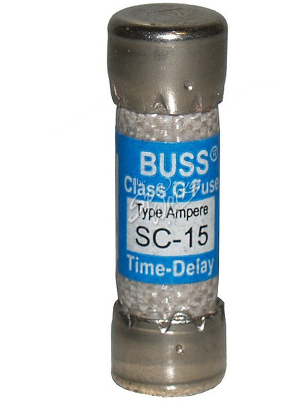 15 AMP SLO-BLO REPLACEMENT FUSE, LARGE STYLE - BUSSSC15