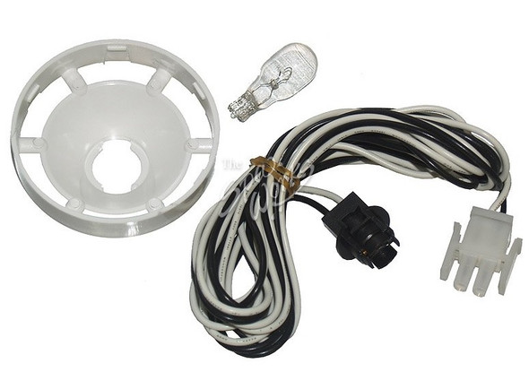 COLEMAN SPA LIGHT BULB HARNESS AND SOCKET WITH 2-PIN AMP PLUG, BULB, AND REFLECTOR - BAL21089