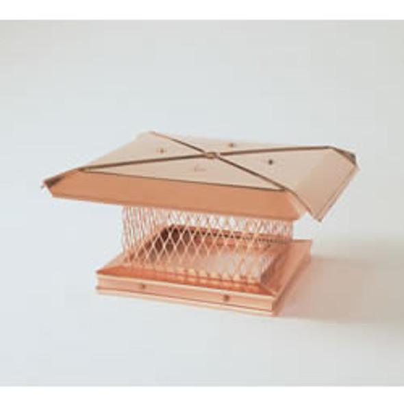 "Gelco 13611 17"" x 17"" Gelco Copper Single-flue Cap"