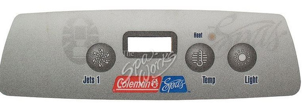 COLEMAN SPA 3-BUTTON TOPSIDE OVERLAY, BASE MODELS 2006-2008 - 103747