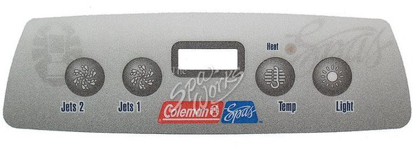 COLEMAN SPA 4-BUTTON TOPSIDE OVERLAY, BASE MODELS 2006-2008 - 103748