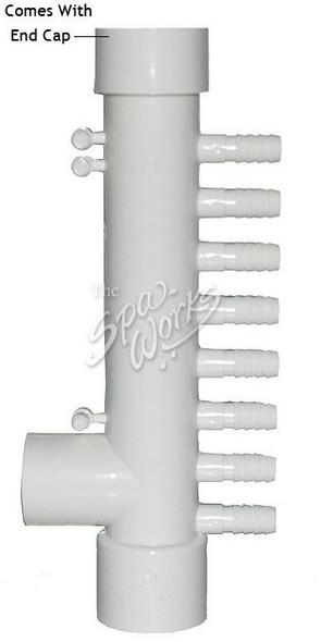 CALDERA SPA AIR MANIFOLD, 8 PORT, 3/8 INCH BARB X 1 INCH SLIP/SPIG - CMP21028-000-000