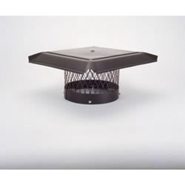"12"" HomeSaver Pro Black Round Chimney Cap, 3/4"" Mesh"