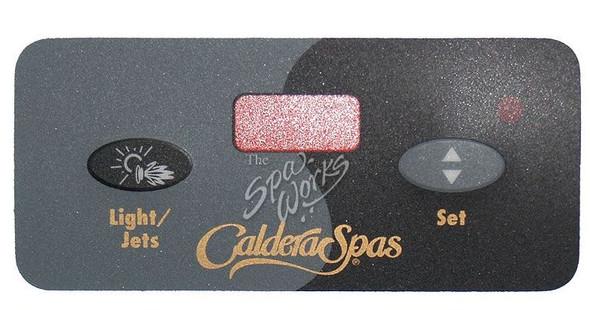 CALDERA SPA TOPSIDE CONTROL PANEL OVERLAY, HIGHLAND SERIES - WAT72285