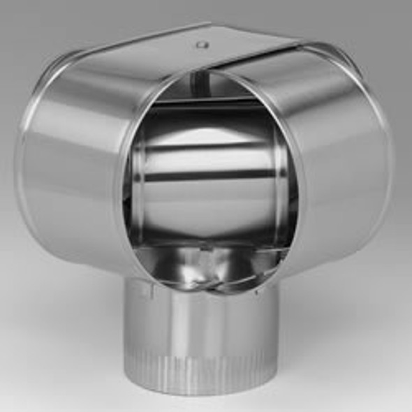 "4"" HomeSaver Windbeater Stainless Steel Cap, 24-ga."