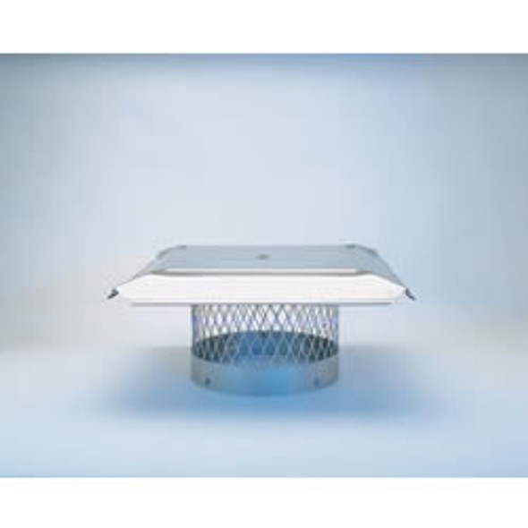 "10"" HomeSaver Pro Stainless Steel Round Chimney Cap, 3/4"" Mesh"