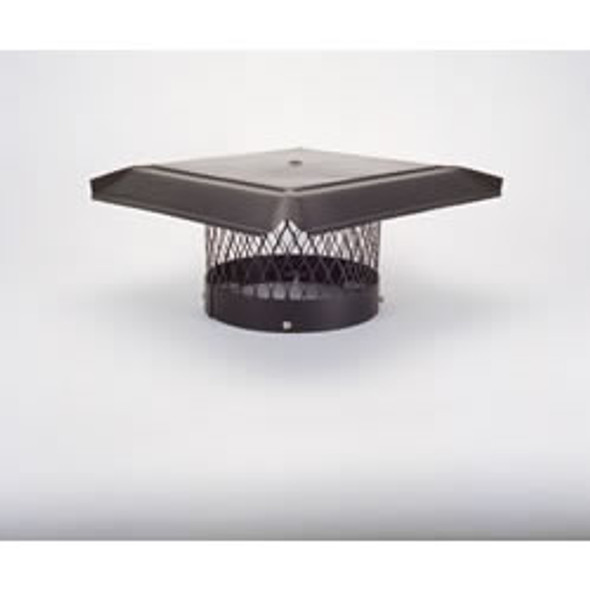"10"" HomeSaver Pro Black Round Chimney Cap, 3/4"" Mesh"