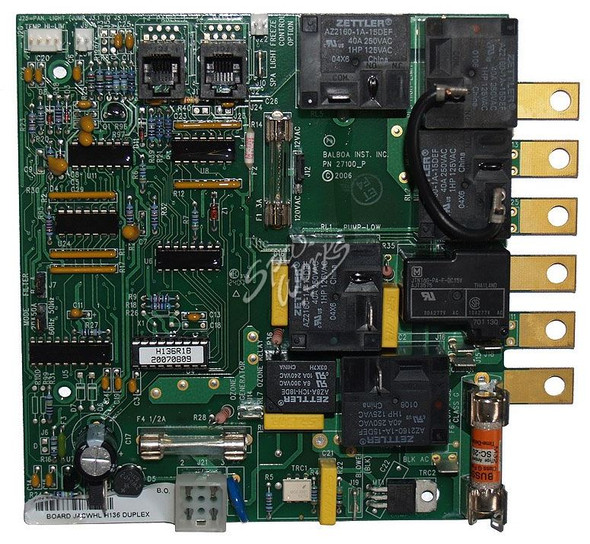 JACUZZI SPA CIRCUIT BOARD, FOR H136 DUPLEX CONTROL BOX, 2001 AND PREVIOUS - JAC2600-015