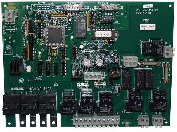 JACUZZI SPA CIRCUIT BOARD, J-300 LCD SERIES, 2002-2006, 3-PUMP FOR J-380 AND J-385 (60HZ) - JAC6600-101