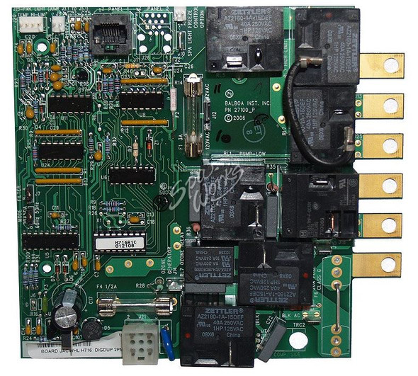 JACUZZI SPA CIRCUIT BOARD, SELECT 1/2 HOUR FILTER CYCLES, 2001 AND PREVIOUS - JAC2600-014
