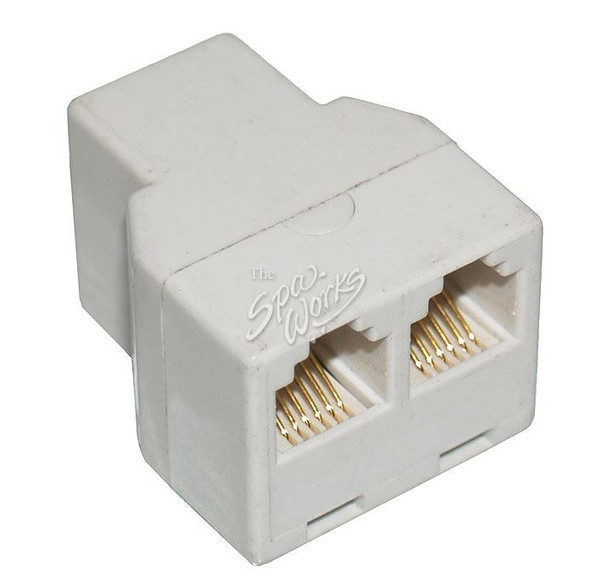JACUZZI SPA 2 INTO 1 PHONE JACK SPLITTER, 6 PIN - JAC6000-445