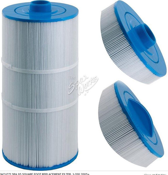 JACUZZI SPA 95 SQUARE FOOT REPLACEMENT FILTER, J-200 2005+ - JAC2540-381