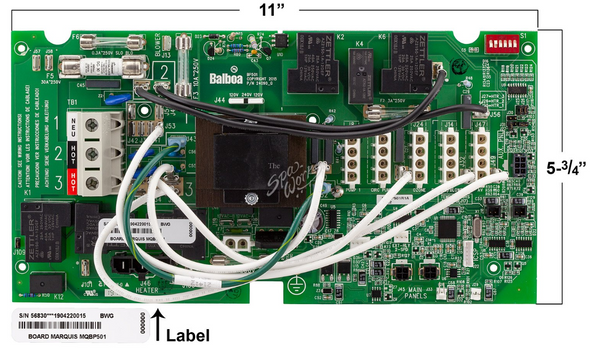 MARQUIS SPA CIRCUIT BOARD MQBP501 - 2013 - MRQ600-6313