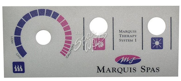 MARQUIS 1 PUMP TOPSIDE PANEL OVERLAY - MRQ650-0014