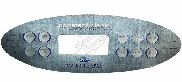 MARQUIS SPA 10 BUTTON TOPSIDE OVERLAY, 2007 - MRQ650-0647