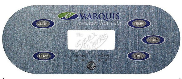 "MARQUIS SPA 5-BUTTON, NEW STYLE ""E-SERIES"" TOPSIDE PANEL OVERLAY - MRQ650-0685"