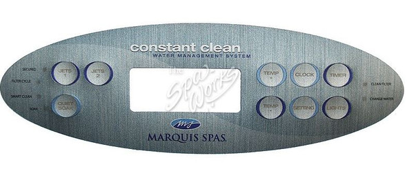 MARQUIS SPA 9 BUTTON TOPSIDE OVERLAY, 2008 - MRQ650-0704