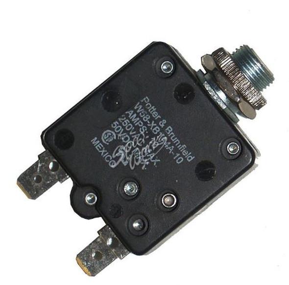 10 AMP PANEL MOUNT CIRCUIT BREAKER - W58XB1A4A-10