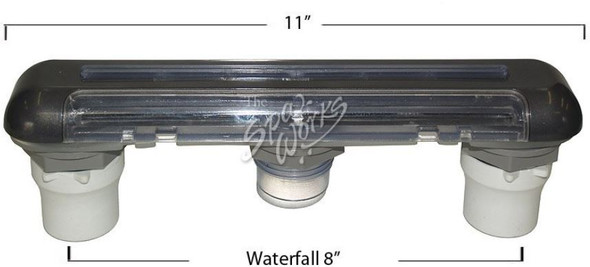 CUSTOM MOLDED 11 INCH WATERFALL ASSEMBLY - LO PROFILE - CMP25273-007-000