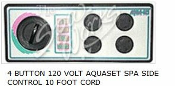 4 BUTTON 120 VOLT AQUASET SPA SIDE CONTROL 10 FOOT CORD - LEG930750-516