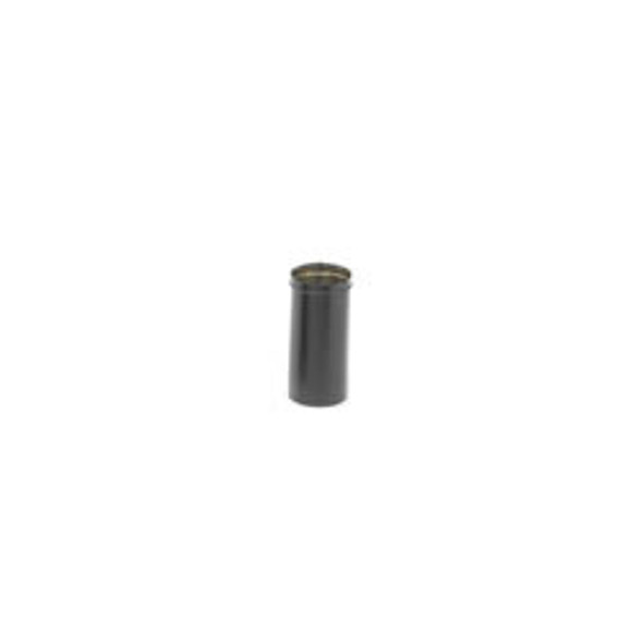 "Dura-black 10"" 24-ga Welded Black Stovepipe Slip Connector, 14"" Long With 10"" Of Adjustment - 69101"