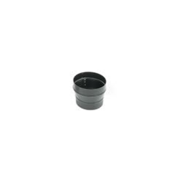"Snap-Lock 24-ga Black Stovepipe 8"" To 6"" Reducer, Crimp On Large End - 73460"