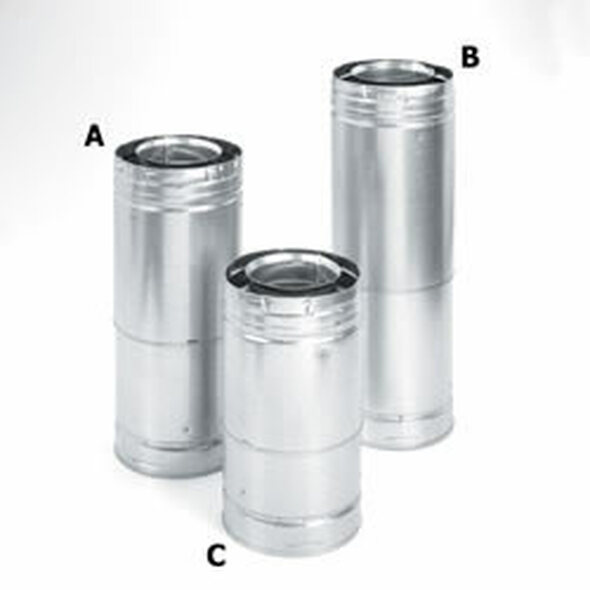 "DirectVent Pro 4"" x  6"" Adjustable Galvanized Pipe 11""-14 5/8"" - 69427"