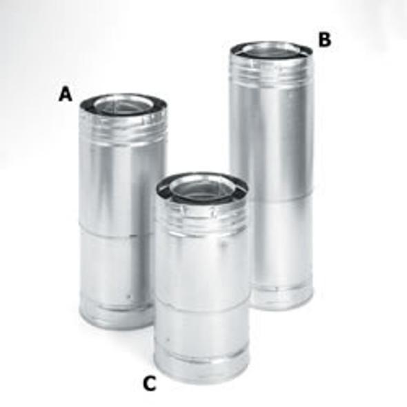 "DirectVent Pro 4"" x  6""Adjustable Galvanized Pipe 17""-24"" - 69429"