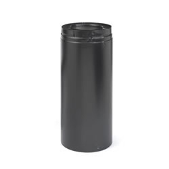"""Direct-vent Pro 5""""x 8""""od Black 8"""" Pipe Extension - 69491"""