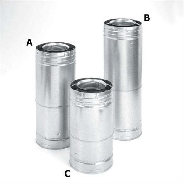 """Direcvent Pro 5"""" x 8"""" Adjustable Galvanized Pipe 11""""-14 5/8"""" - 69529"""
