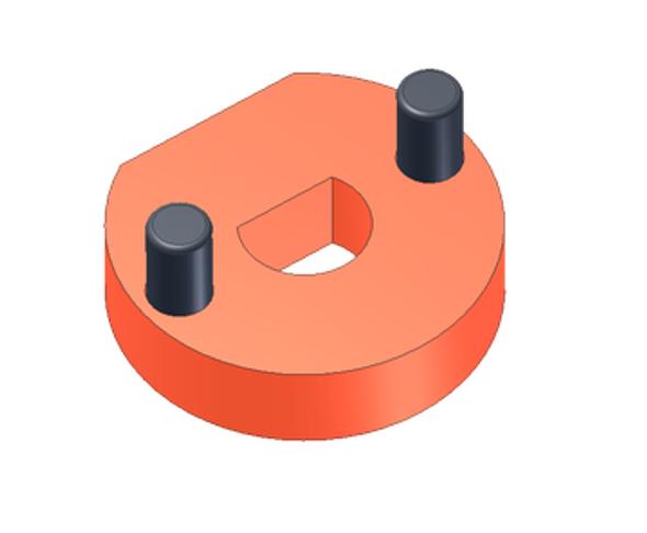 "2"" Diameter Auger Male Adapter Assembly for 1/2"" Auger Motor Shaft - HR-0000-931"