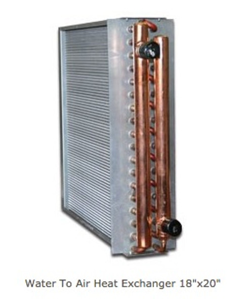 "Water To Air Heat Exchanger 19""x20"""