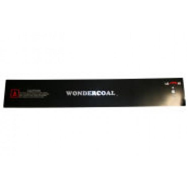 Control Panel Plate- Black 85381BC