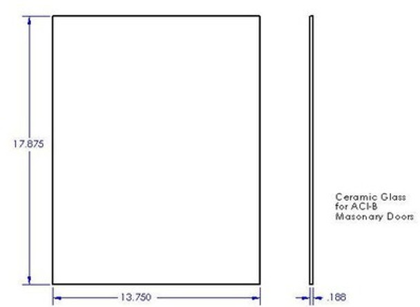 Glass, Ceramic, Rectangular, 13 3/4 x 17 7/8 - R-100