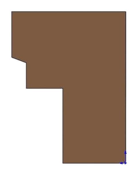 Brick Panel, Right - WIN-4001