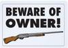 B&F Diamond Plate Sign - Beware of Owner!