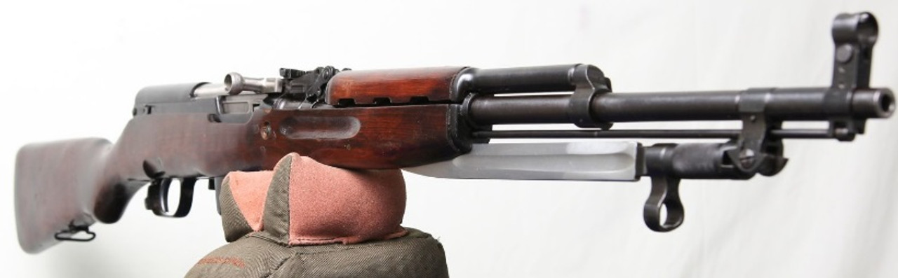 Russian Surplus SKS Silver Bolt, Hardwood Stock (NRA Fair Condition)