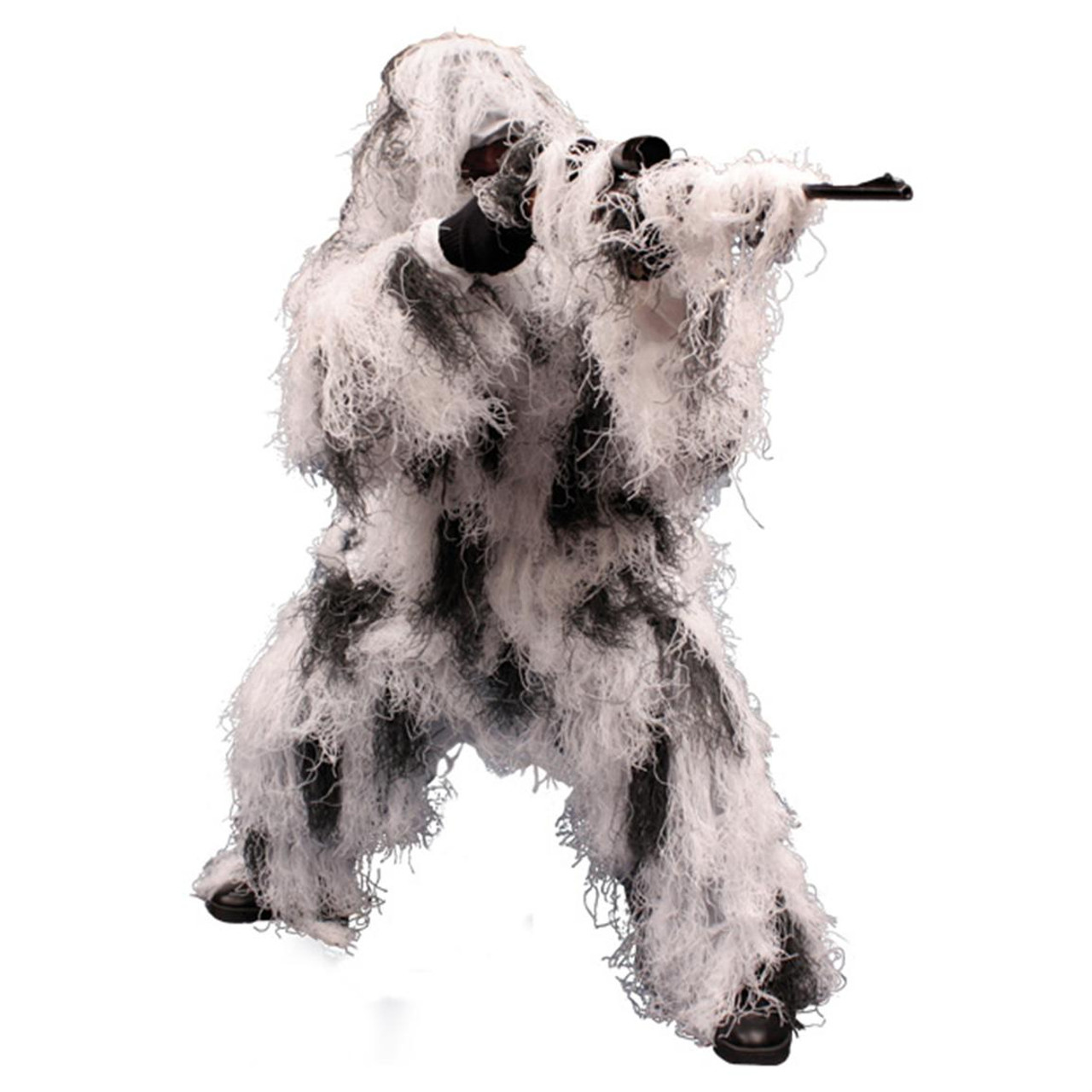 Red Rock 5 Piece Ghillie Suit (Snow) - Medium/Large