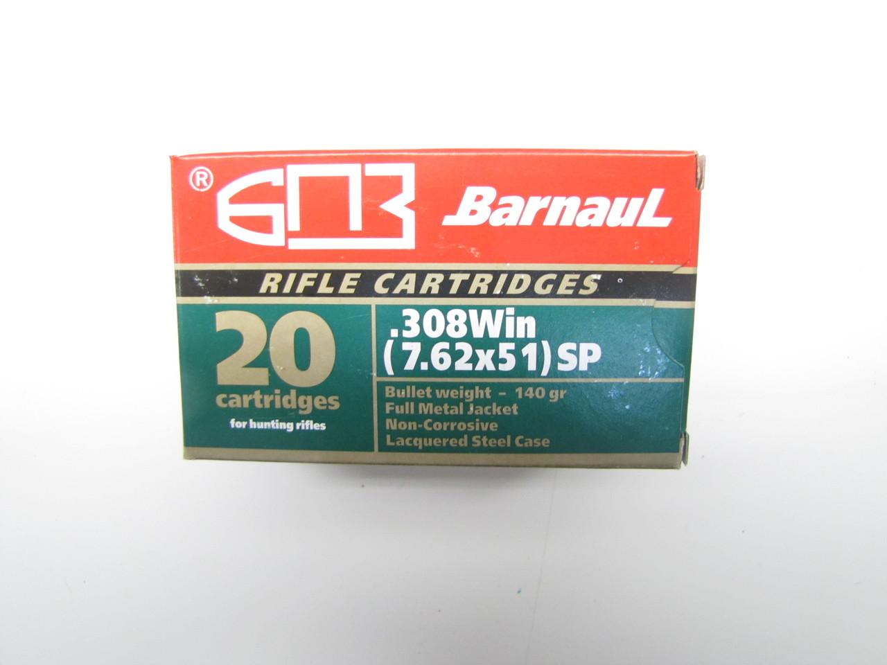 Barnaul .308 BT SP 168gr SP- 400 rds