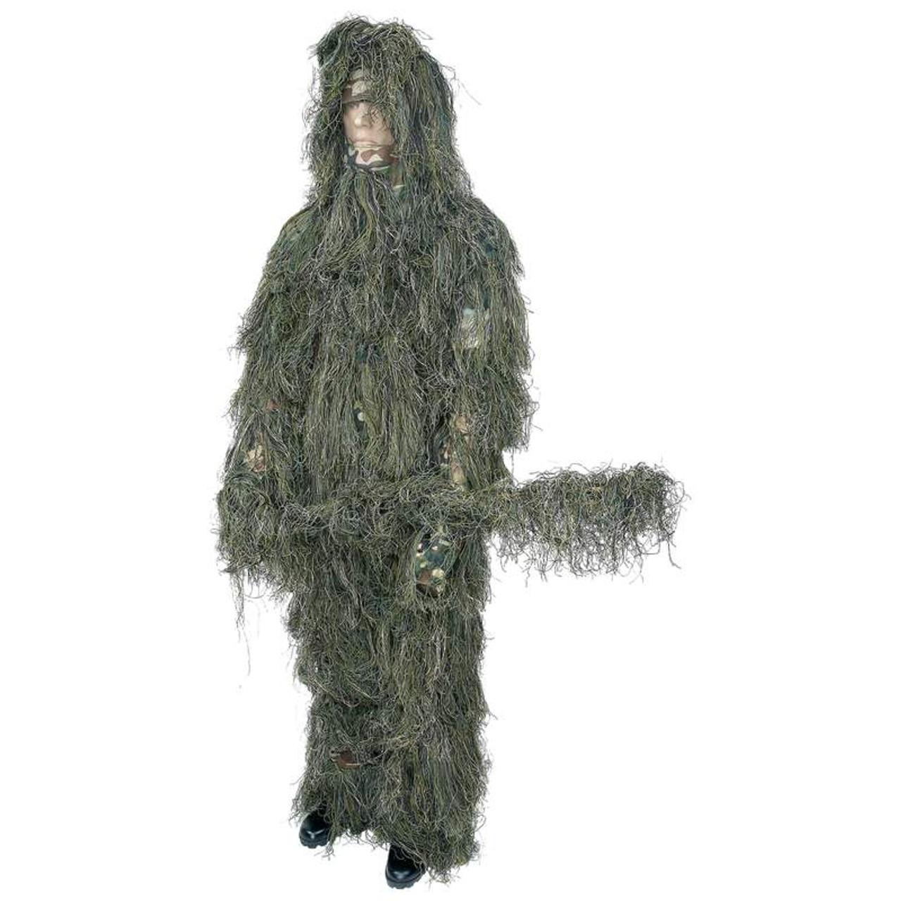 Classic Safari™ 4pc Woodland Ghillie Suit M/L