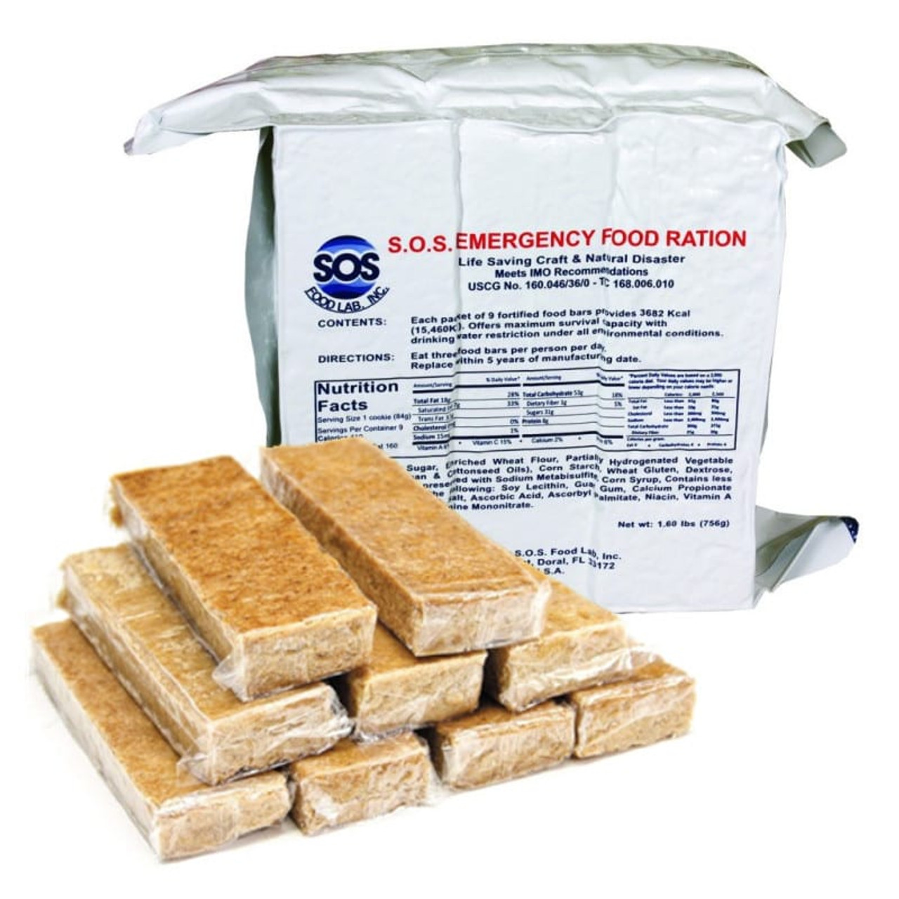 S.O.S Emergency Food Ration 3600 Calorie.   *02/20 MFG Date