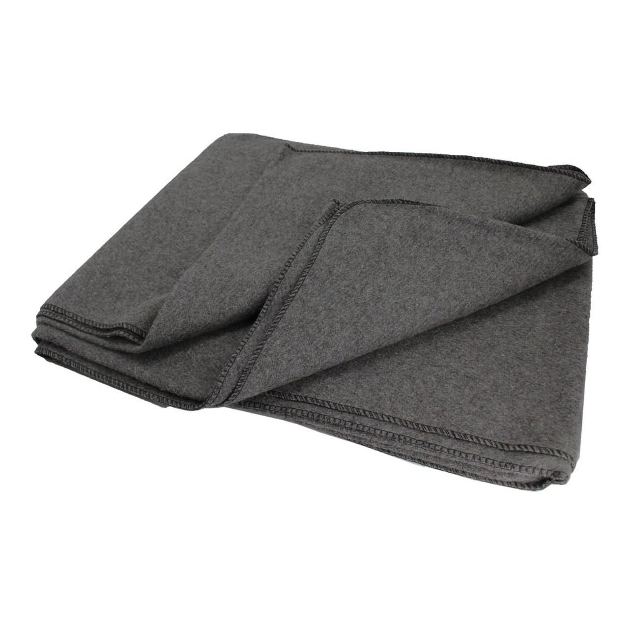 "Ready First Aid 80% Wool Blanket (Gray) 64"" x 84"""