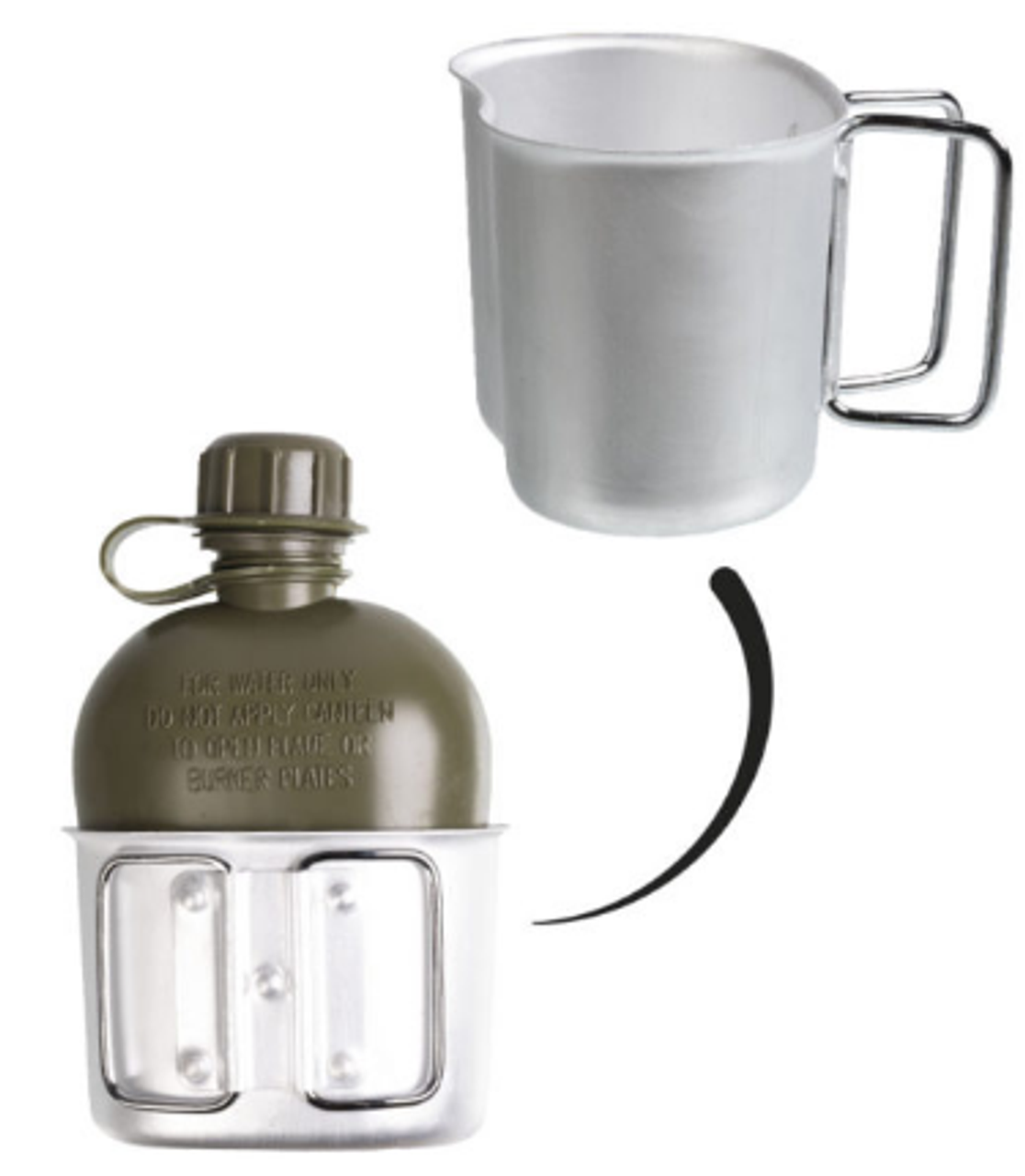 Surplus Austrian Canteen W/Cup & Cover