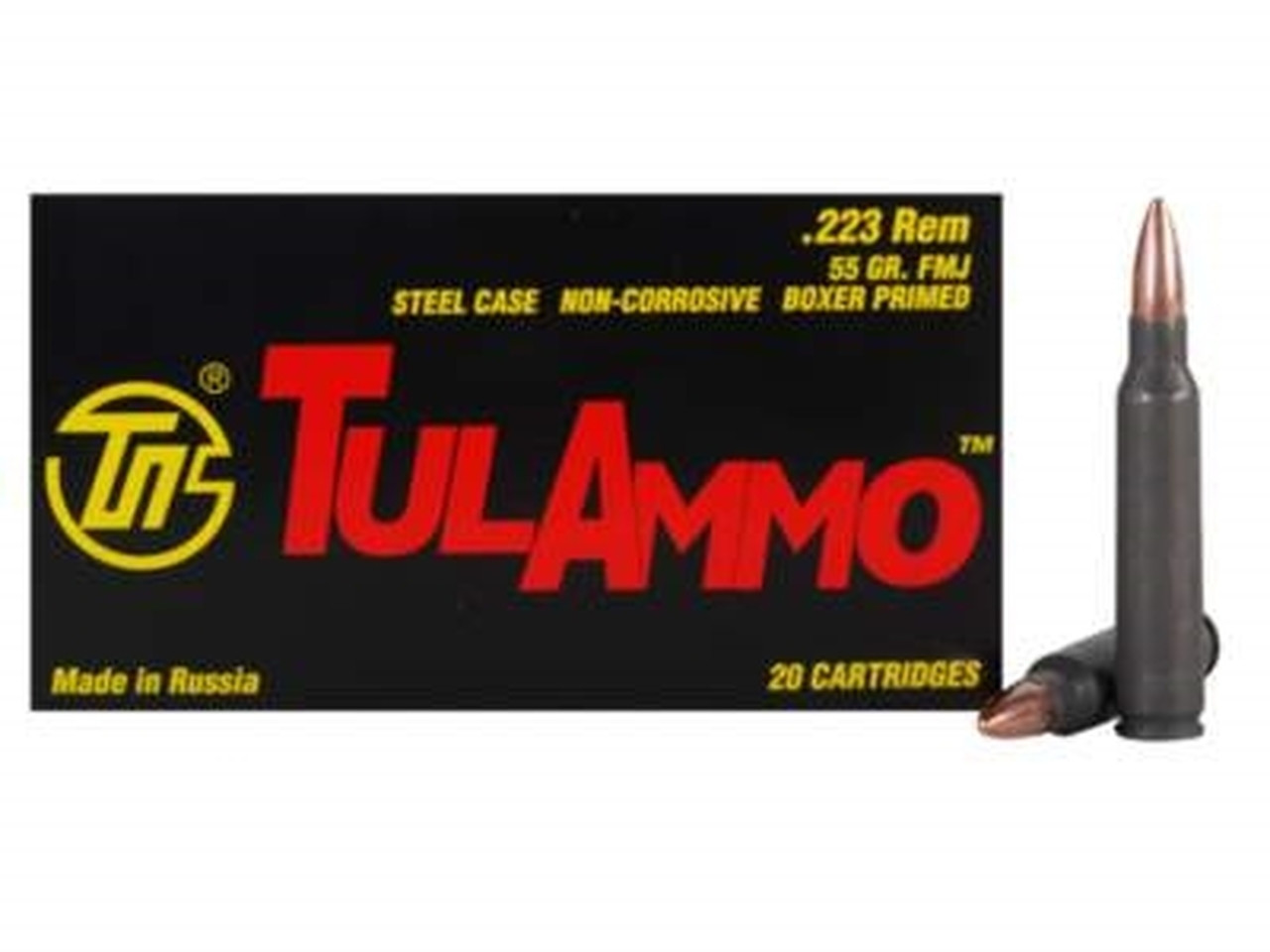 TulAmmo .223 Rem Hollow Point Ammo 55 Grains , 1000 Round Case