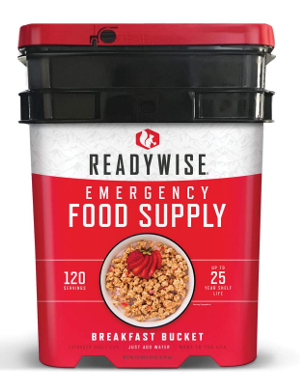 Readywise Emergency Food Supply - 120 Serving Breakfast