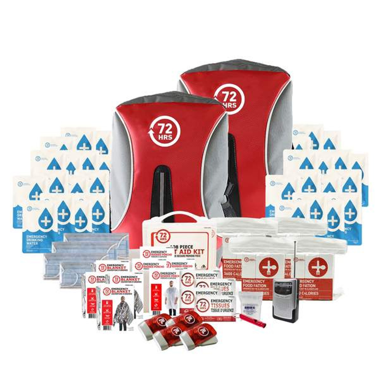 4 Person 72HRS Essential Backpack - Emergency Survival Kit