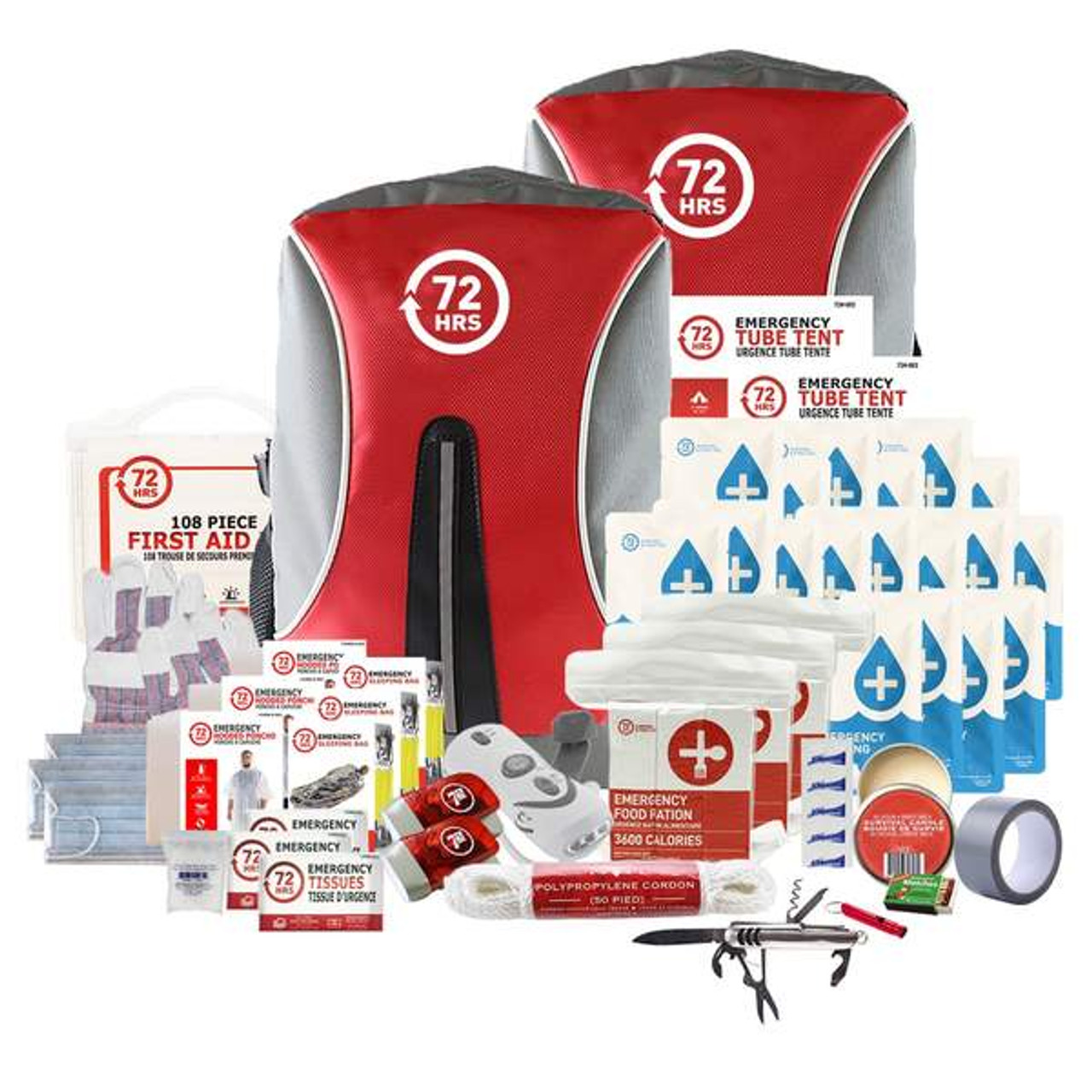 3 Person 72HRS Deluxe Backpack - Emergency Survival Kit