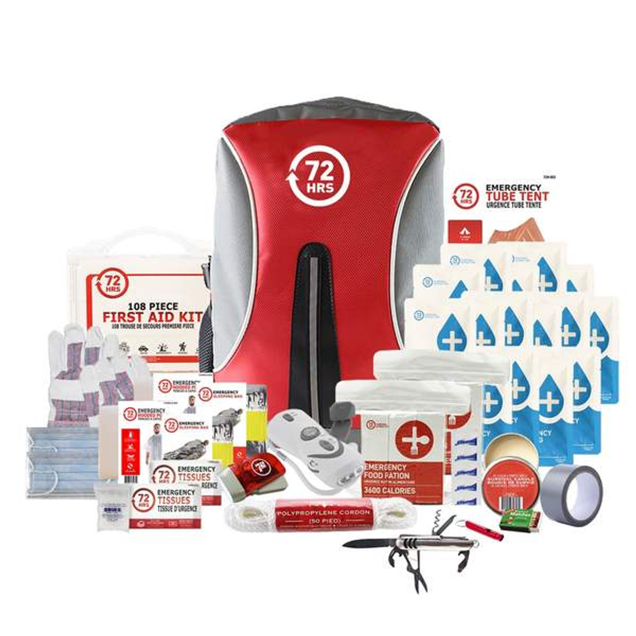 2 Person 72HRS Deluxe Backpack - Emergency Survival Kit