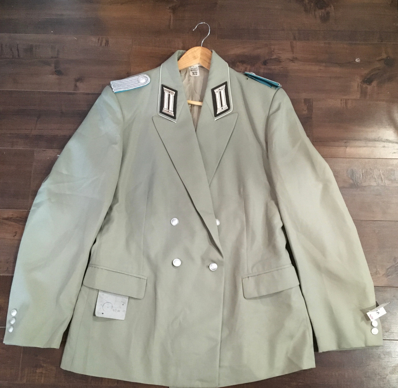 East German Coat With Patches Size 52