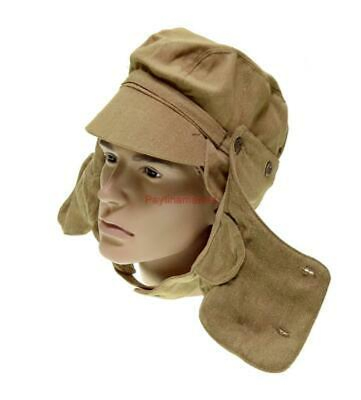Russian Afghanistan Cap with Removable Face Cover